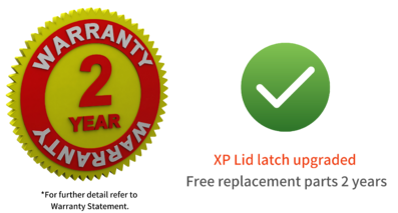 Warranty 2 years_xp lid latch upgraded-1