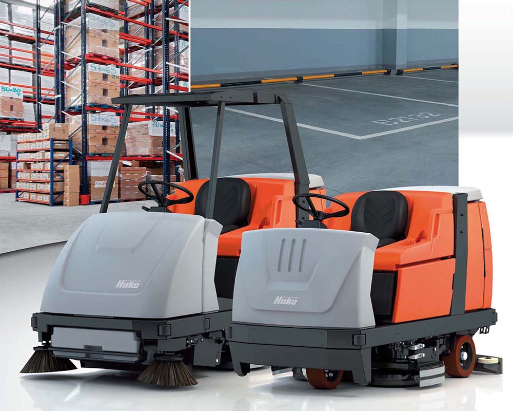 Scrubmaster B310 R Industrial Ride-on Floor Scrubber or Scrubber/Sweeper
