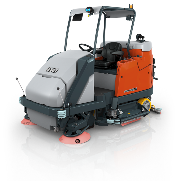 Scrubmaster B400 RH Vacuum sweeper and scrubber-drier combi machine with high dump