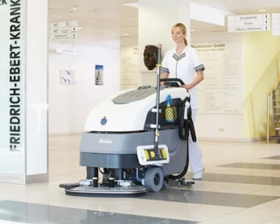 Scrubmaster AntiBac B90 CL Industrial Battery Electric Floor Scrubber - 65cm-85cm